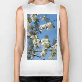 Cherry blossoms time in the garden Biker Tank