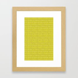 Bone Repeat Pattern Framed Art Print