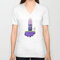 fez V-neck T-shirts featuring Dr. Who's Fez by IF ONLY