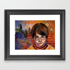 Harry's First Quidditch Match Framed Art Print