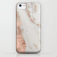 Marble - Rose Gold Shimmery Marble Slim Case iPhone 5c