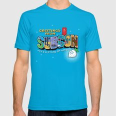 Greetings from Subcon SMALL Mens Fitted Tee Teal