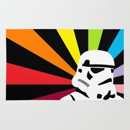 After the Storm... Rainbow Trooper Rug