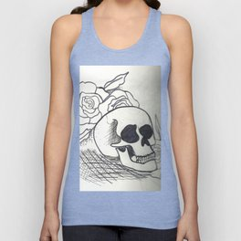 Skulls and Roses Unisex Tank Top