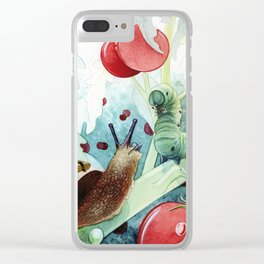 The little snail and the Caterpillar Clear iPhone Case