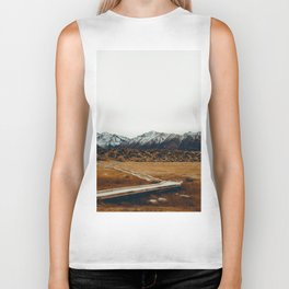 The Plains and Mountains (Color) Biker Tank