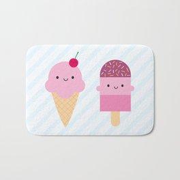 Summer Ice Cream Treats Bath Mat