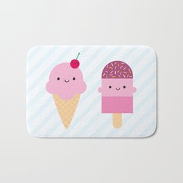 Summer Ice Cream Treats Bath Mat