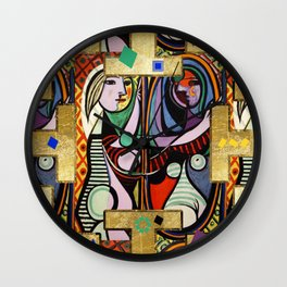 Picasso collage Wall Clock
