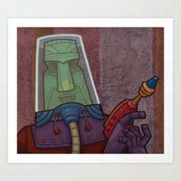 Space Tiki Art Print