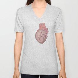 cat heart Unisex V-Neck