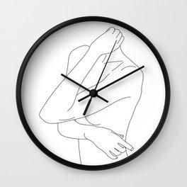 Woman's body minimal illustration - Dakota Wall Clock