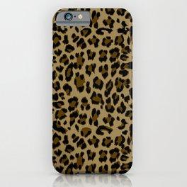Leopard Print Pattern iPhone Case