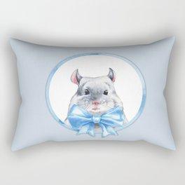 Bead. Blue bow Rectangular Pillow