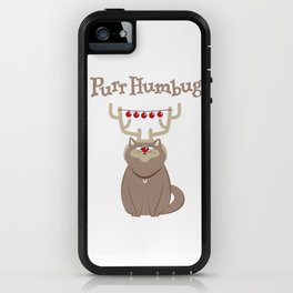 Purr Humbug. Not-So-Festive Cat. iPhone Case
