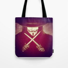 V for Vendetta4 Tote Bag