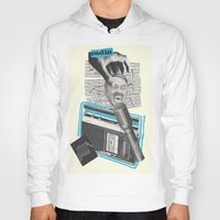radio Hoodies featuring Radio by collageriittard