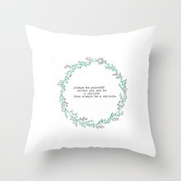 Be a Unicorn Throw Pillow