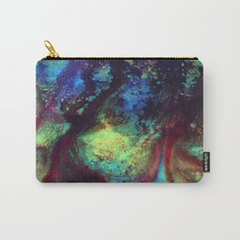 Titan Abstract Artwork, Contemporary Artist Design, Close Up Photograph, Bright Color Abstract Art Carry-All Pouch