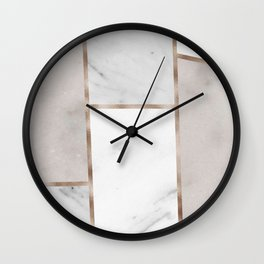 Taupe stones - rose gold adorns Wall Clock