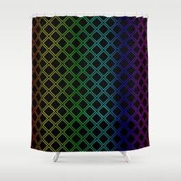 Rainbow Squarity Shower Curtain