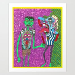 Rad Dadz Art Print