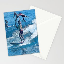 Mary & John Surfing #2 Stationery Cards