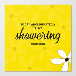 To cry wholeheartedly Canvas Print