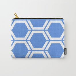 United Nations blue - turquoise - Geometric Polygon Pattern Carry-All Pouch