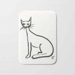 Cat Drawing Bath Mat