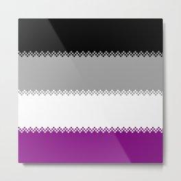 pixel pride- ace pride flag Metal Print