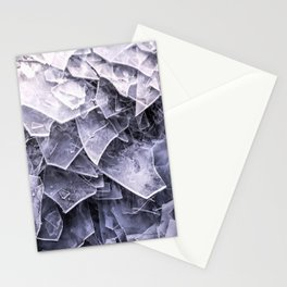 Cracked Ice Tiles In Lake Shore  Stationery Cards