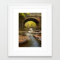cassia beck Framed Art Prints featuring Bridge over May Beck by Martin Williams