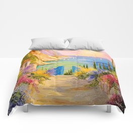 Road to the sea Comforters