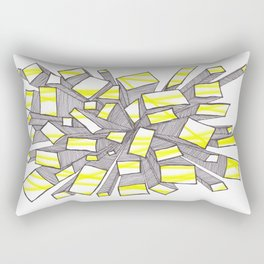 Yellow Fragmentation Rectangular Pillow