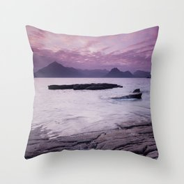 Elgol Beach III Throw Pillow