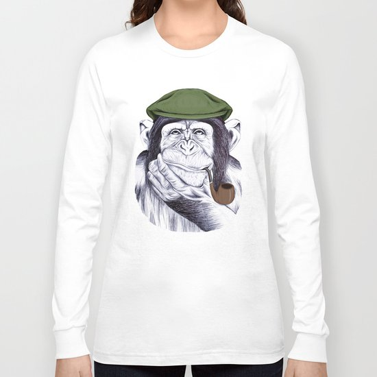 Wise Mr. Chimp Long Sleeve T-shirt
