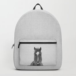 Horse II - Black & White Backpack