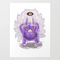 Mean Look Art Print