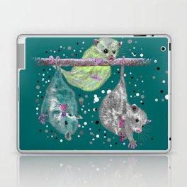 Green possum trio on a branch - Teal Laptop & iPad Skin