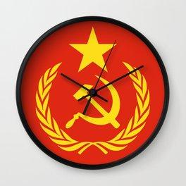 Russian Communist Flag Hammer & Sickle Wall Clock