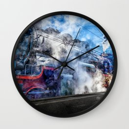 Steam Locomotive (Train) Wall Clock