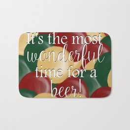 It's The Most Wonderful Time For A Beer Bath Mat