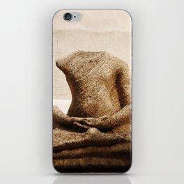 Broken Buddha Statue iPhone Skin