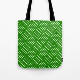 Abstract geometric pattern - green and white. Tote Bag