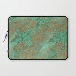 Verdigris Patched Texture Laptop Sleeve