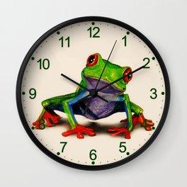 Mr. Ribbit Wall Clock