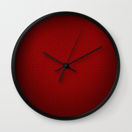 red carbon Wall Clock