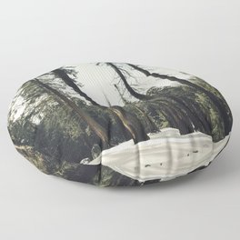Winter Sequoia Forest Floor Pillow