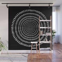 Fjorn black Wall Mural